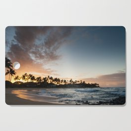 Sunrise at Poipu beach in Kauai, Hawaii Cutting Board