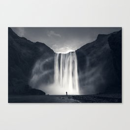 Stormy Skogafoss Canvas Print