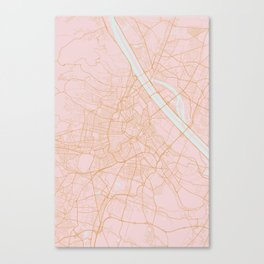 Vienna map Canvas Print