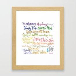 Ramona's Tea Framed Art Print
