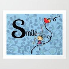 Girl...Smile! Art Print