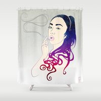 smoke Shower Curtains featuring Smoke by Stevyn Llewellyn