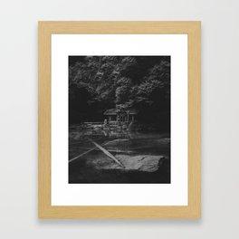 Cottage (Black and White) Framed Art Print