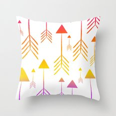 Always on the Rise (summer arrows) Throw Pillow