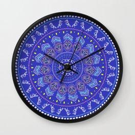 Taino Mandala Wall Clock
