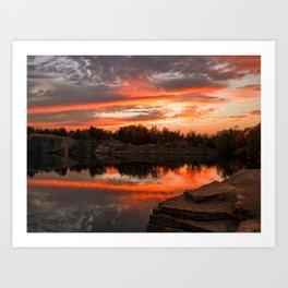 Sunset at Halibut Point Quarry Art Print