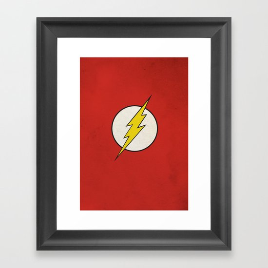 Flash Minimalist  Framed Art Print