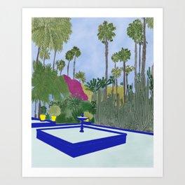 Majorelle Garden, Marrakech Art Print