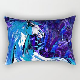 HORSE INDIGO BLUE AND DRAGONFLY NIGHTS Rectangular Pillow