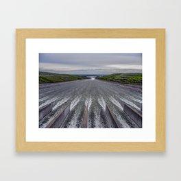 Rushing Water, Fort Peck Dam Spillway, Montana Framed Art Print