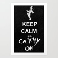 my chemical romance Art Prints featuring Keep Calm and Carry On: My Chemical Romance by alainaci