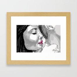Amelie and Nino. Framed Art Print