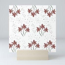 Red Flower Power 2 Mini Art Print