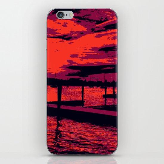 Sunset Over Bristol Harbor iPhone & iPod Skin