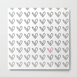 HEARTS ALL OVER PATTERN III Metal Print