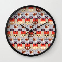 Baseball Orange and Grey - Super cute sports stars Wall Clock
