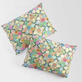 Gilded Moroccan Mosaic Tiles Pillow Sham