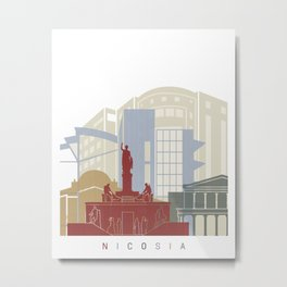 Nicosia skyline poster Metal Print