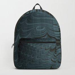 Charcoal Crust - Fractal Art Backpack