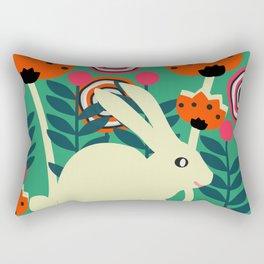 Little bunny in spring Rectangular Pillow