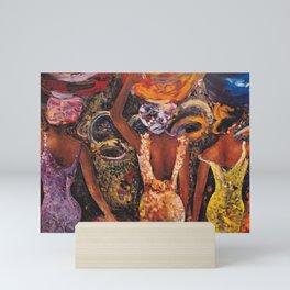 Three Women with Baskets Mini Art Print
