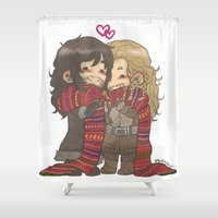 kili Shower Curtains featuring Big Scarf by AlyTheKitten