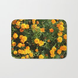 Flowers beautiful and plants in the garden for background Bath Mat