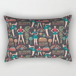 dieters' resolutions Rectangular Pillow