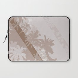 Palm Design - Beige and Brown Laptop Sleeve