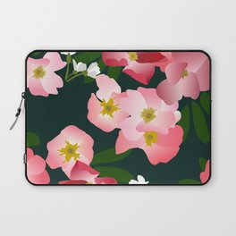 Pink Roses and Cherry Blossoms Laptop Sleeve