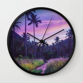 Colorful island Wall Clock