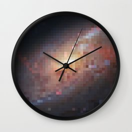 Galactic Squares #5 Wall Clock