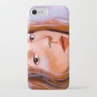 sylvia plath iPhone & iPod Cases featuring Sylvia Tietjens I by alessia deletia colognesi