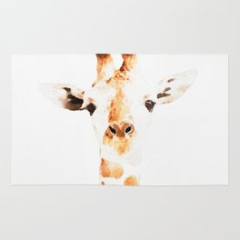 Giraffe watercolor Rug