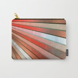 Chromatic Fan - Copper, Red and Turquoise Carry-All Pouch