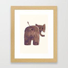Elephant's butt Framed Art Print