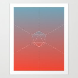 Icosahedral Sunrise Art Print
