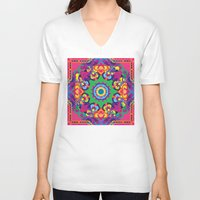 vegetable V-neck T-shirts featuring Vegetable Mind by pocketsoup