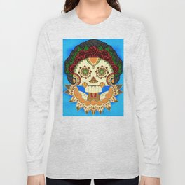 Dia de los Muertos Senora de las Rosas / Day of the Dead Lady of the Roses Long Sleeve T-shirt