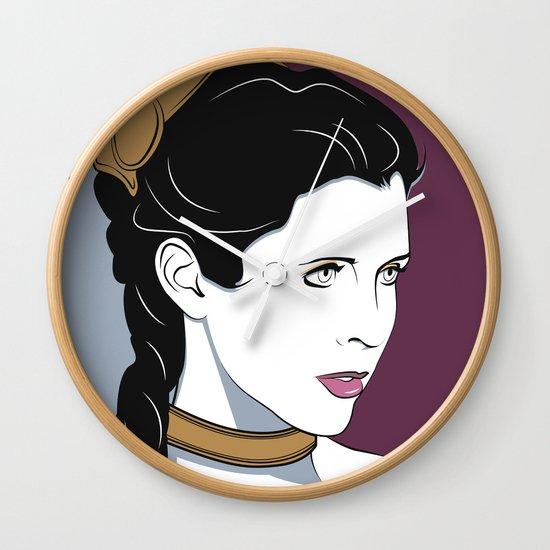 80s Princess Leia Slave Girl Wall Clock