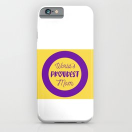 World's Proudest Mom (Intersex Flag Version) iPhone Case