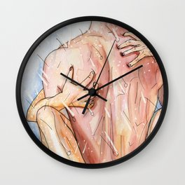 shower sex Wall Clock