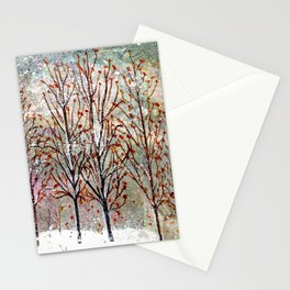 Snowy Trees along Moon Lake in Dewdrop Holler Stationery Cards