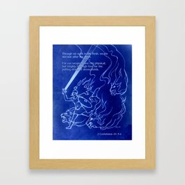 Warrior Girl 5 With Heavenly Host Framed Art Print