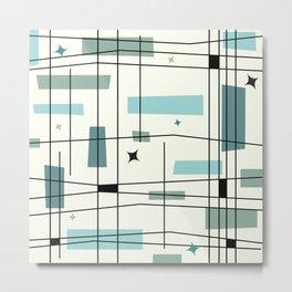 Mid Century Art Bauhaus Style Metal Print