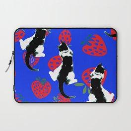 Benji the Cat Berries Laptop Sleeve