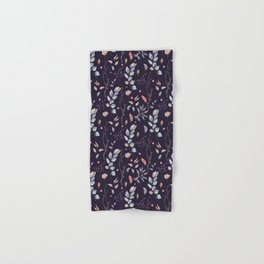 Watercolor natural pattern with twigs Hand & Bath Towel