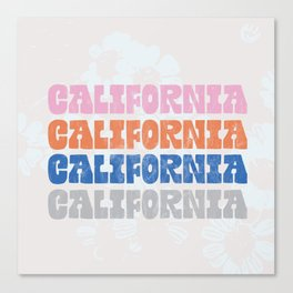 vintage california Canvas Print
