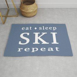 Eat Sleep SKI repeat Rug