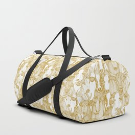 just cattle gold white Duffle Bag
